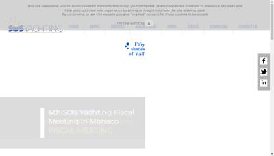 Capture d'écran du site de Sos Yachting France