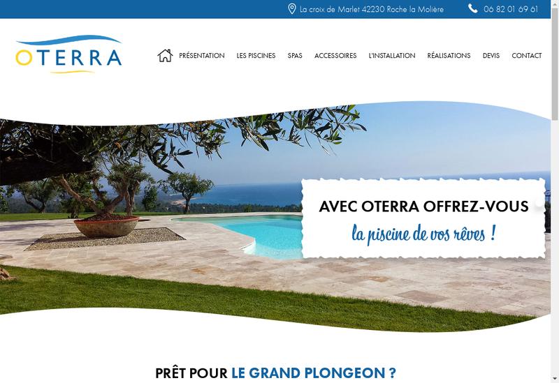 Capture d'écran du site de Oterra