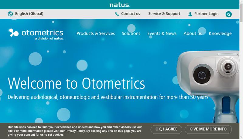 Capture d'écran du site de Gn Otometrics