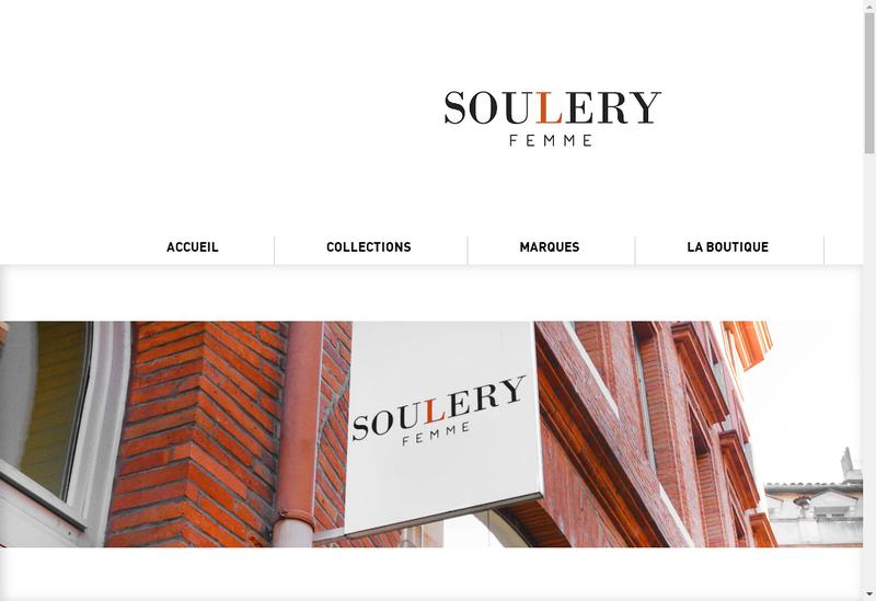 Capture d'écran du site de Soulery