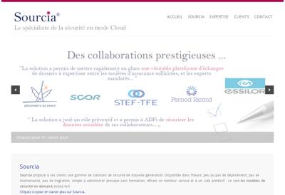 Capture d'écran du site de Sourcia
