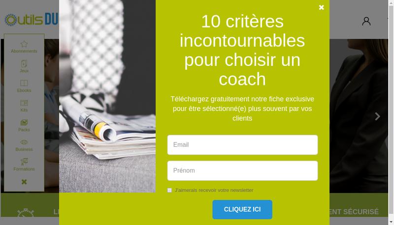 Capture d'écran du site de Outilsducoach.com