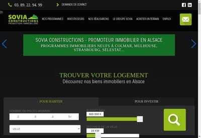 Site internet de Sovia Constructions
