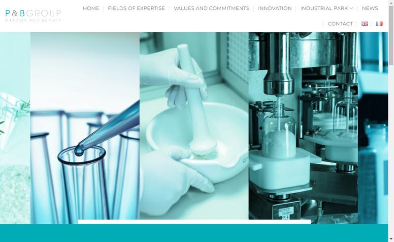 Capture d'écran du site de P&B Group