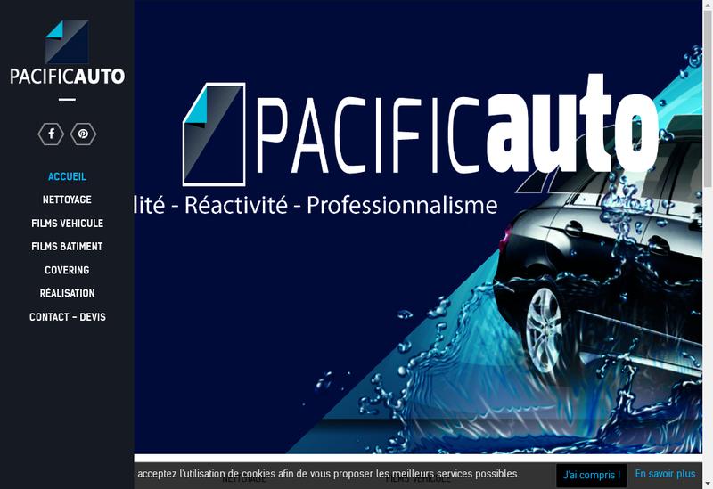 Capture d'écran du site de Pacific Auto