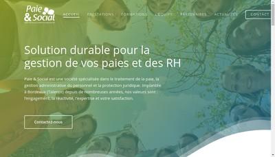 Site internet de Paie & Social