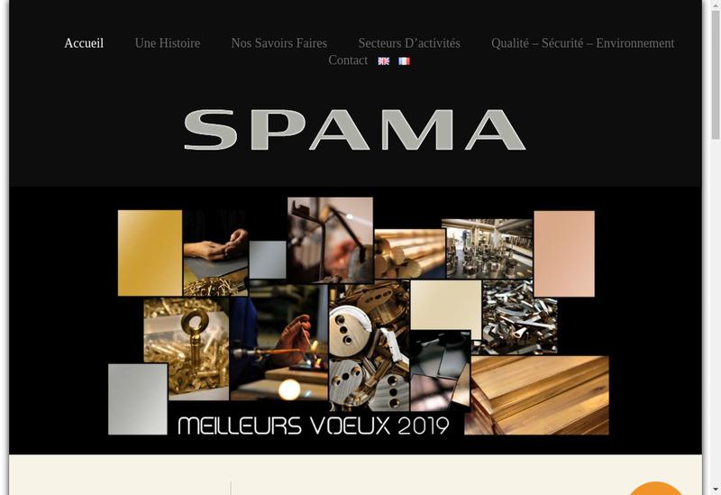Capture d'écran du site de Spama