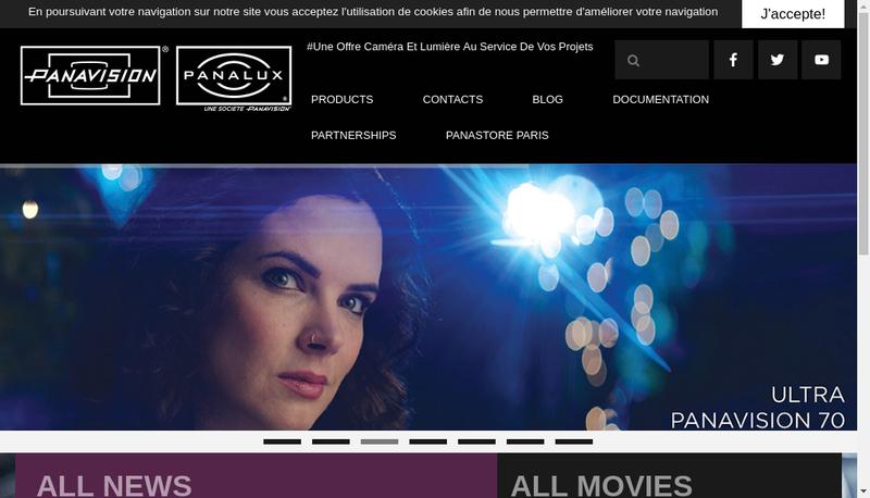 Capture d'écran du site de Panavision Rhone Alpes