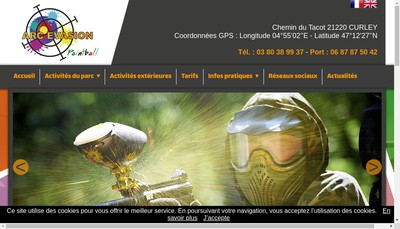 Site internet de Arc Evasion