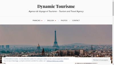 Capture d'écran du site de Dynamic Tourisme