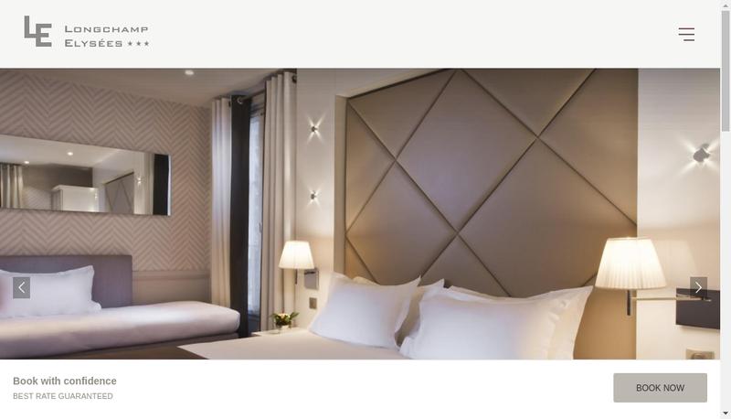 Capture d'écran du site de Societe Hotel de Longchamp