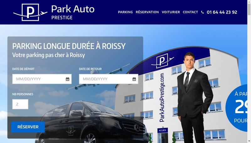 Capture d'écran du site de Park Auto Prestige