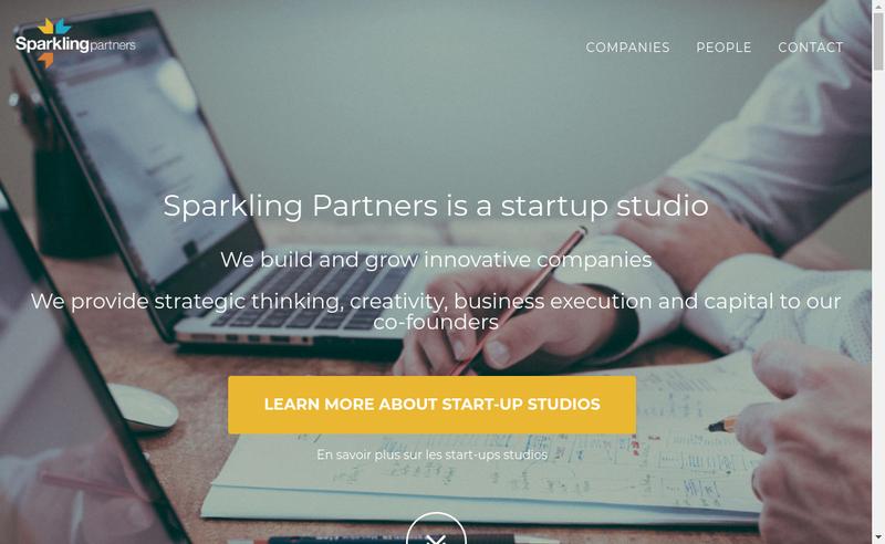 Capture d'écran du site de Sparkling Tech