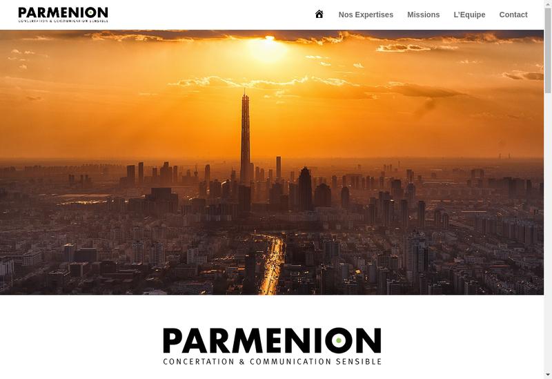 Capture d'écran du site de Parmenion