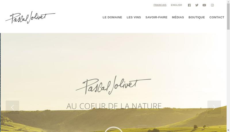 Capture d'écran du site de Pascal Jolivet