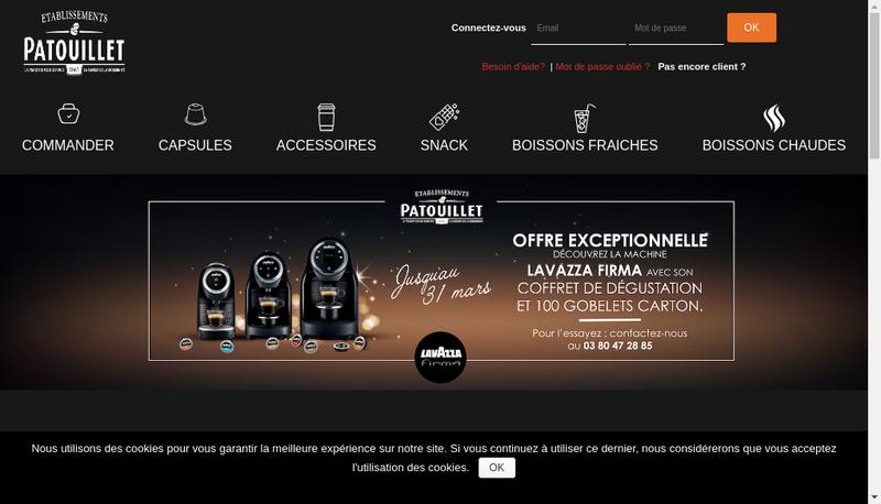 Capture d'écran du site de Distribution Service 21 Ds 21