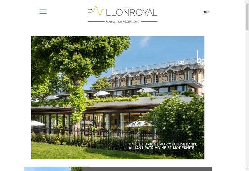 Capture d'écran du site de Societe du Pavillon Royal