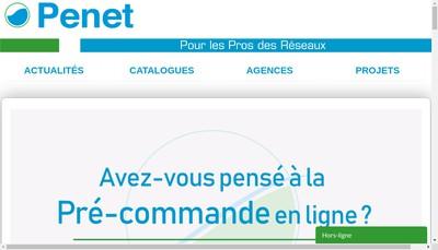 Site internet de Penet Plastiques