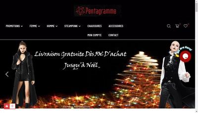 Site internet de Pentagrammeshop