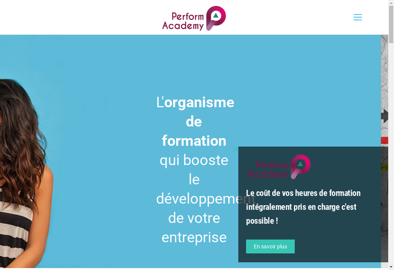 Capture d'écran du site de Performacademy