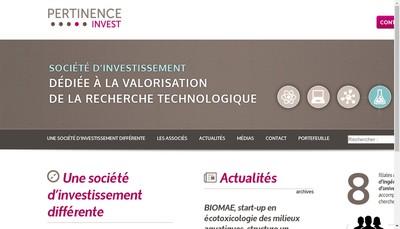 Site internet de Pertinence Invest