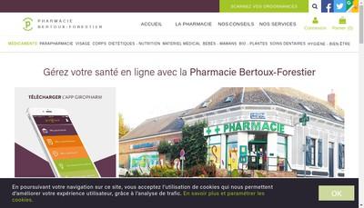 Site internet de Pharmacie Bertoux Forestier