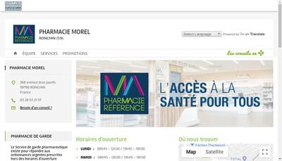 Site internet de Pharmacie Morel