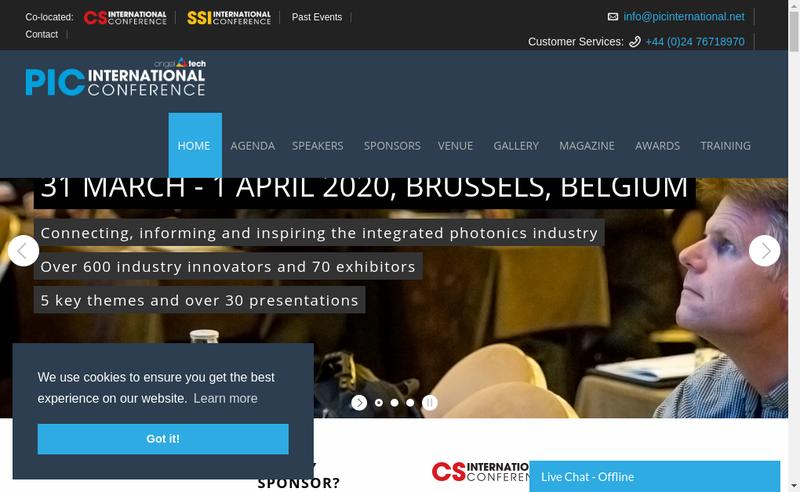 Capture d'écran du site de Oic International