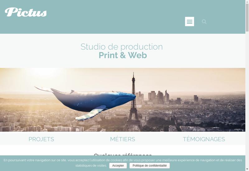 Capture d'écran du site de Pictus