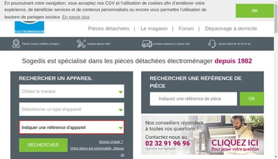 Site internet de Sogedis