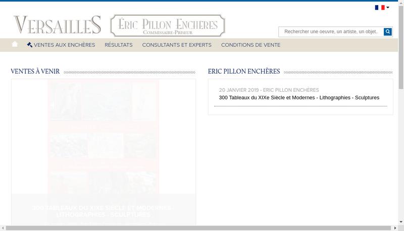 Capture d'écran du site de Eric Pillon Encheres Pve