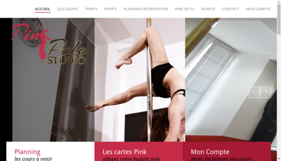 Capture d'écran du site de Pink Pole Studio