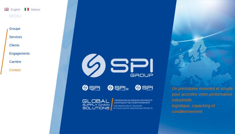 Capture d'écran du site de SPI2