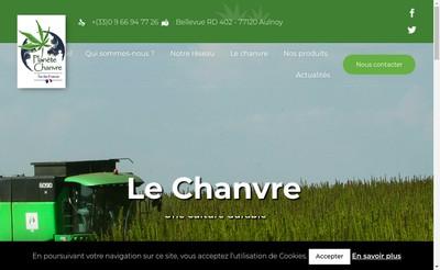 Site internet de Planete Chanvre