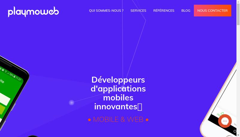 Capture d'écran du site de Playmoweb SAS