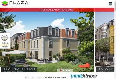 Site internet de Plaza Immobilier