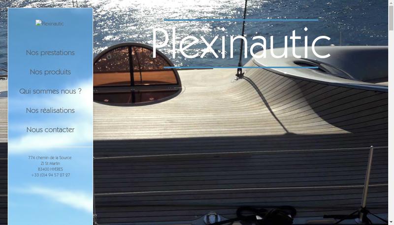 Capture d'écran du site de Plexinautic