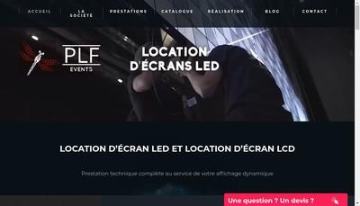 Site internet de Plf