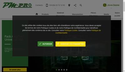 Site internet de Pm Pro