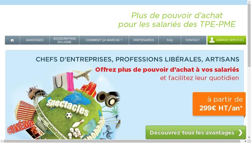 Capture d'écran du site de Canalce
