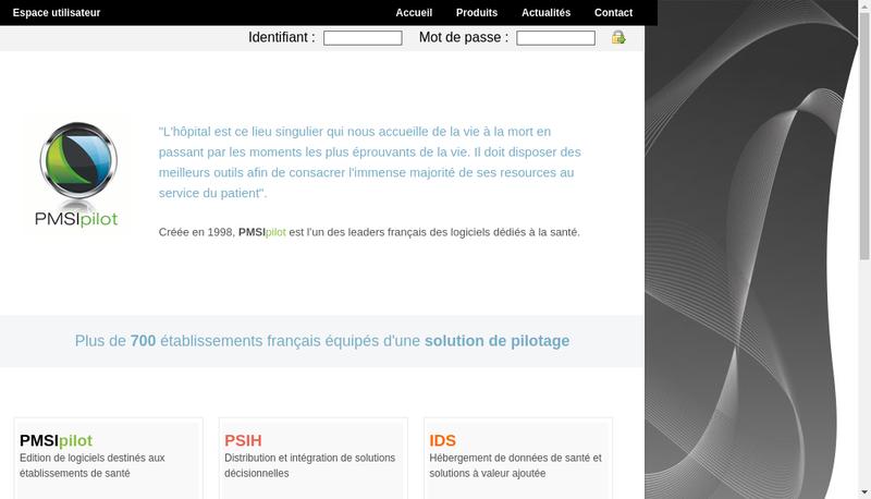 Capture d'écran du site de Groupe Psih