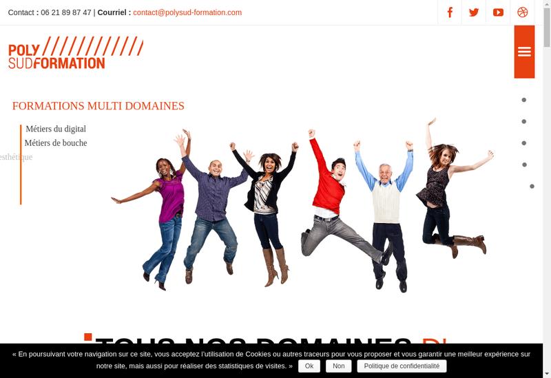 Capture d'écran du site de Polysud Formation