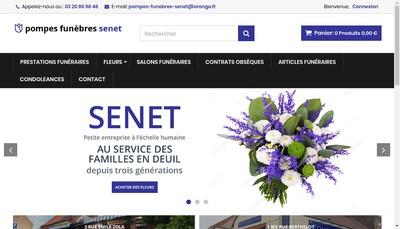 Site internet de Pompes Funebres Senet