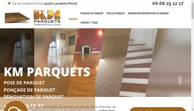 Site internet de Km Parquets