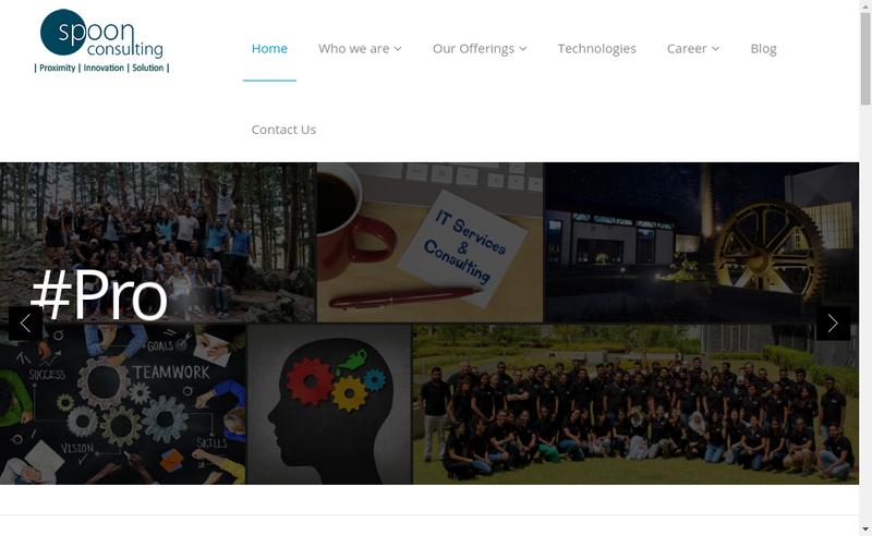 Capture d'écran du site de Spoon Consulting France