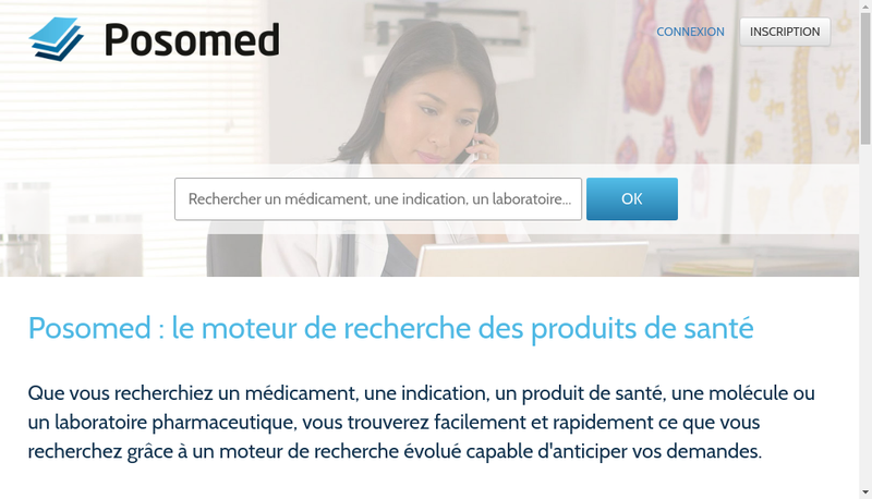 Capture d'écran du site de Posomed