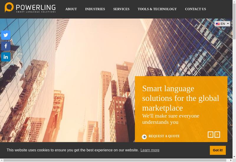 Capture d'écran du site de Powerling