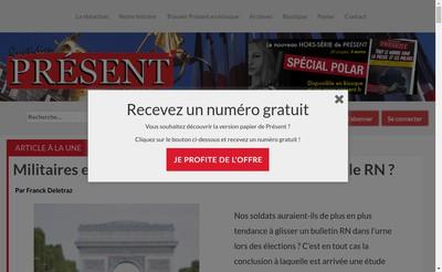 Site internet de Present