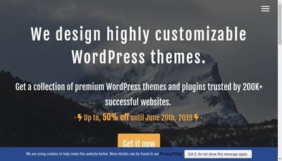 Site internet de Press Customizr
