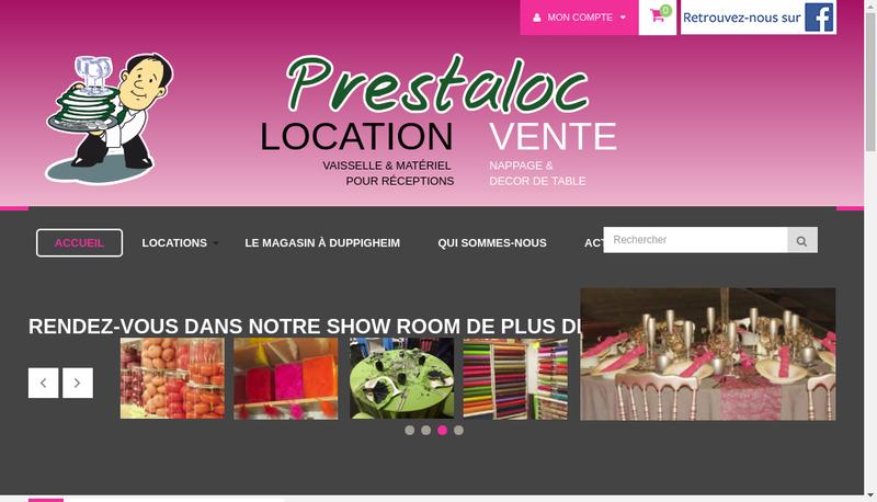 Capture d'écran du site de Prestaloc